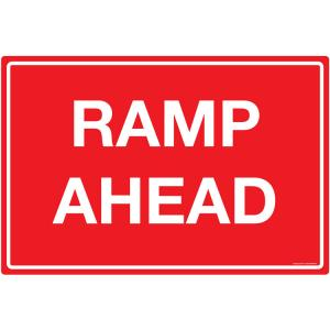 Safety Sign Store Ramp Ahead Sign Board, TR203-90120REF-01