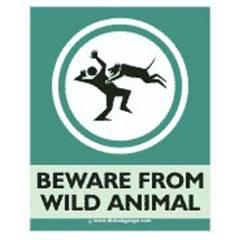 Dishasignage Beware-From-Wild-Animal Safety Signage