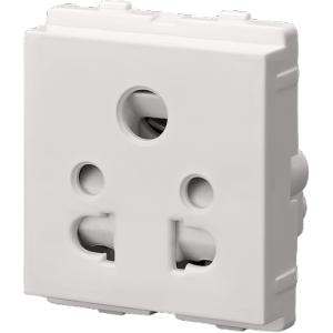 Polycab Selene 6A 5 Pin Socket Outlet (Pack of 10)