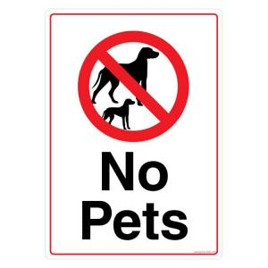 Safety Sign Store No Pets Sign Board, PS603-A3PC-01