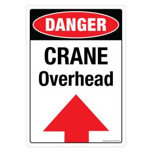 Safety Sign Store Danger: Crane Overhead Sign Board, SS238-A3PC-01