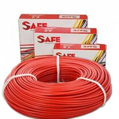 Safe 1.0 sqmm Single Core 90m Red HRFR PVC Industrial Cables, S1430