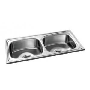 Camry CS-DB-4120-8 Stainless Satin Matt Steel Double Bowl Kitchen Sink, Steel Grade: AISI 304