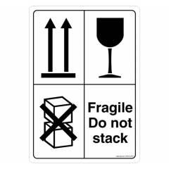 Safety Sign Store Fragile Do Not Stack Sign Board, CW906-A4PR-01, (Pack of 10)