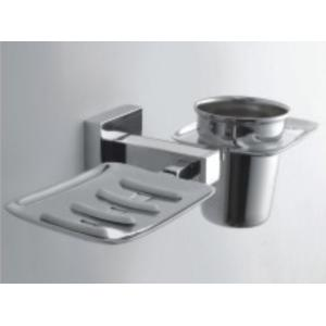 Bath Age Square Soap Dish with Tumbler Holder, JSQ 509