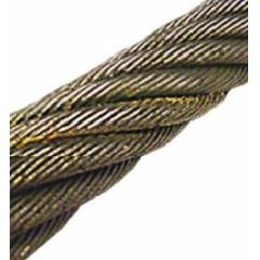Mahadev 25mm WSC Galvanised Steel Wire Rope, Size 34x7, Length: 1000 m