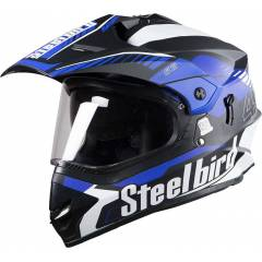Steelbird SB-42 Matt Black Full Face Helmet, Size (Large, 600 mm)