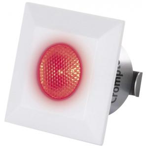 Crompton Star Domestic 2W Square Red LED Spot Light, LSSS2-RED