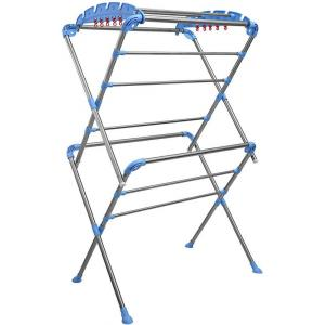 NSD Blue & White Sumo Floor Cloth Drying Stand