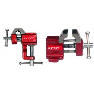 Ketsy 849 Red Cast Iron Baby Vice Set, Size: 25 mm