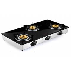 Butterfly Grand 3 Burner Glass Top Gas Stove