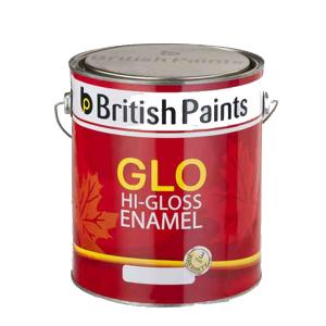 British Paints 1 Litre Fire Red Glo Hi-Gloss Synthetic Enamel, GR-IV