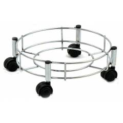 Abyss ABDY-0108 Chrome Finish Stainless Steel Gas Cylinder Trolley with Quality Wheels