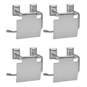 Doyours Oscar Series 4 Pieces SS Toilet Paper Holder with Flap Set, DY-1090