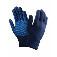 Sunlong 60g Dotted Blue Safety Gloves, Size: M