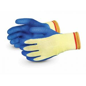 Sunlong Latex Palm Coated Cut Resistant Blue & Yellow Safety Gloves, Size: XL