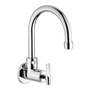 Eauset Elbe Quarter Turn Sink Cock with swinging spout (small) wall mounted with Wall Flange, FEL063