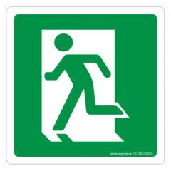 Safety Sign Store Exit-Graphic Sign Board, FE318-105AL-01