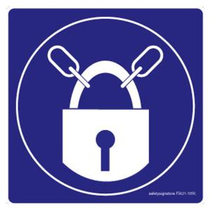 Safety Sign Store Keep Locked-Graphic Sign Board, FS621-105PC-01, (Pack of 5)