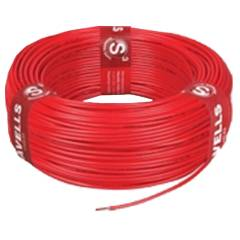 Havells 0.75 Sq mm PVC Red Life Guard Flexible Cable, WHFFFNRL1X75, Length: 180 m
