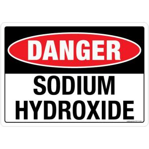 Safety Sign Store Danger: Sodium Hydroxide Sign Board, SS117-A4AL-01