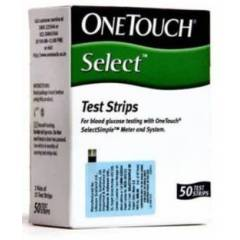 Johnson & Johnson One Touch Select Test Strips (50 Strips)