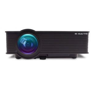 Egate i9 120 Inch Black LED HD Projector with 3 Feet Ceiling Mount Kit
