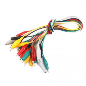 Electrobot 50cm Double Ended Crocodile Alligator Clips Cable, PZIN14013619 (Pack of 4)
