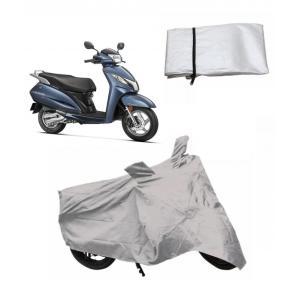 G-King Silver Bike Body Cover For Honda Activa 3G
