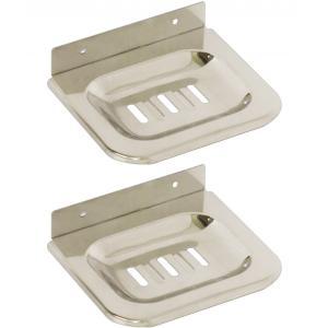 Doyours Royal Series 2 Pieces Square Plate Soap Dish/Soap Holder Set, DY-0452
