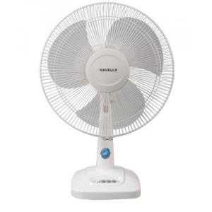 Havells 55W Velocity Neo White Table Fan, Sweep: 400 mm