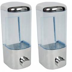 VML 500ml Silver Liquid Soap Dispenser, 1002 (Pack of 2)