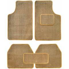Oscar 5 Pieces Beige Carpet Car Mats Set for Toyota Etios Liva