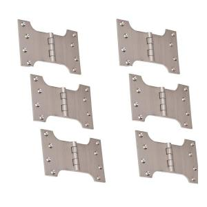 SmartShophar Brass Silver Parliament Hinges, Size: 3x3 Inch, 54707-BPH-SS75-P6 (Pack of 6)