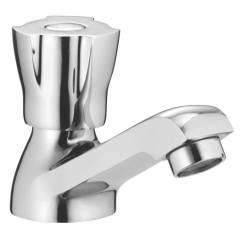 Apree Makao Silver Brass Pillar Faucet