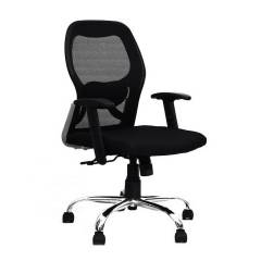 R P Enterprises Apollo Medium Back Office Chair, Dimensions: 45x48x60 cm