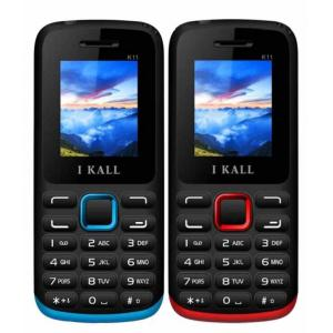 I Kall K11 Red & Blue Feature Phone Combo