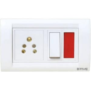 B-Five Decent 4 Module Cover Plate, B-064D (Pack of 10)
