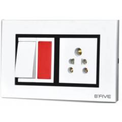 B-Five Royal 3 Module Cover Plate, B-063R (Pack of 10)