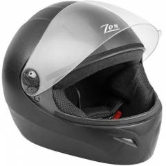 Steelbird Zon Classic Motorbike Black Full Face Helmet, Size (Large, 600 mm)