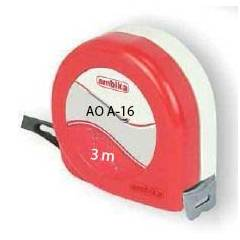 Ambika Steel Measuring Tape, AO A-16, Tape Length: 3 m, Tape Width: 16 mm (Pack of 10)