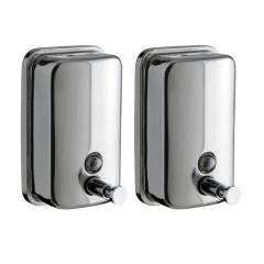 Home Decor Stainless Steel Liquid Soap Dispensers, HDDISP8, Capacity: 1000 ml (Set of 2)