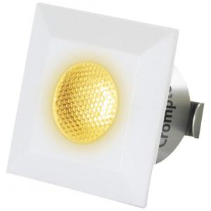 Crompton Star Domestic 2W Square LED Spot Light, LSSS2-WW (Pack of 2)