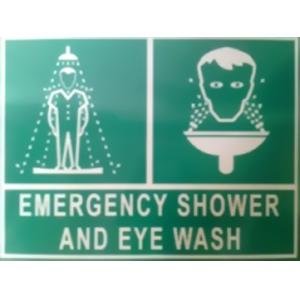 ITE 1x1 ft Reflective Emergency Shower Sign Board