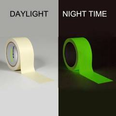 Clickforsign 2 Inch Glow In The Dark Night Vinyl Self Adhesive Tape, 4 feet