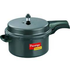 Prestige Deluxe Plus 7.5 Litre Hard Anodized Outer Lid Pressure Cooker, 10703