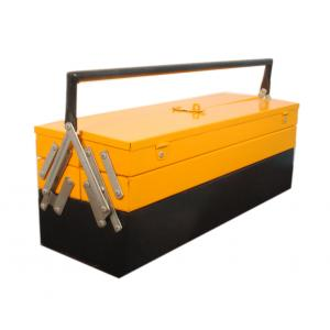 Pahal 5 Compartment Yellow & Black Tool Box, Dimensions: 24x8x8 inch
