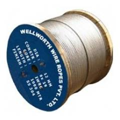 Wellworth 12 mm Ungalvanized Steel(IWRS/SC) Wire Rope, Length: 500 m, Size: 6x19 mm