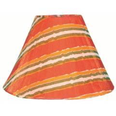 Aadhya Creations AC Lehria Orange Lamp Shade, AC13LS052