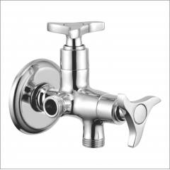 Apree STAR Silver Brass 2 in 1 Angle Faucet